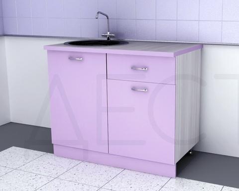 Стол кухонный под мойку ЭСТЕРО 1000 левый