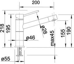 Смеситель Blanco ALTA - схема
