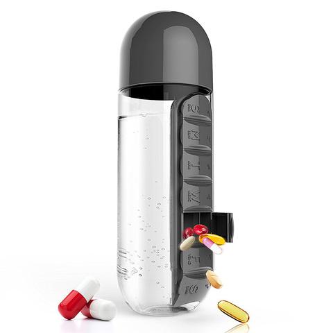 Бутылка органайзер Asobu In style (0,6 литра), черная