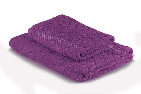 Полотенце махровое жаккардовое (Фиолетовый)