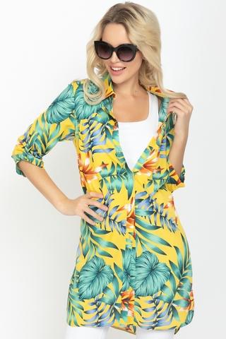 <p>Хит сезона! Отличный летний вариант. Рубашка удлиненная с разрезами. Ворот на стойке. Рукав до локтя с патой. <span>(Длинны: 44-93см; 46-94см; 48-95см; 50-96см; 52-98см)</span></p>