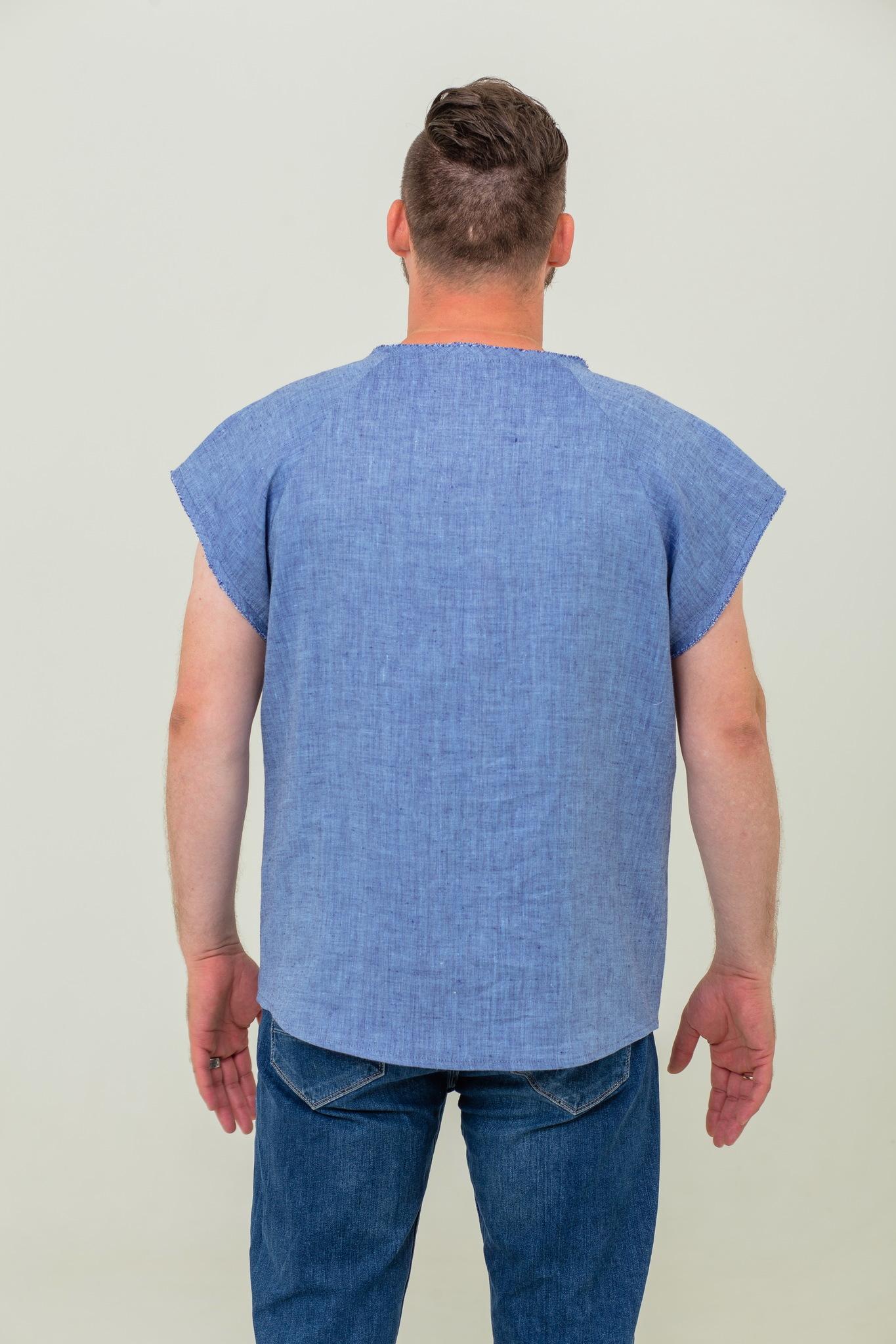 Льняная рубашка футболка славянская Богатырская