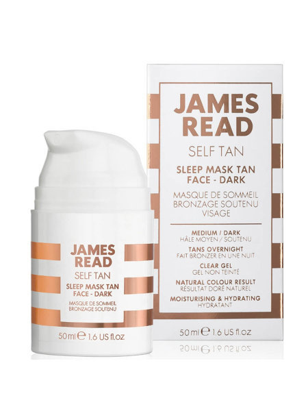 Маска ночная для лица уход и загар James Read Self Tan Sleep Mask Tan Face- Dark 50 мл