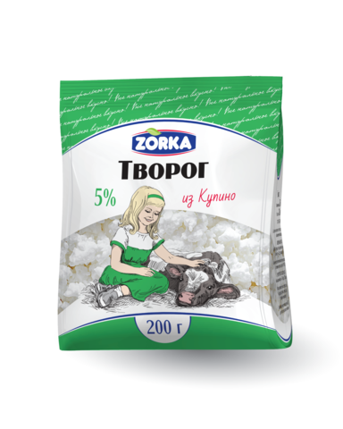 "Творог ""Zorka"" 5% 200г"