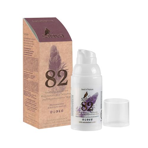 Сыворотка успокаивающая №82, для регенерации чувствительной кожи Sativa, 30 мл