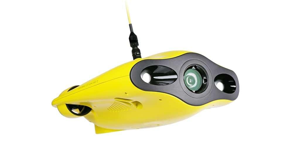 Подводный дрон Gladius Mini вид снизу