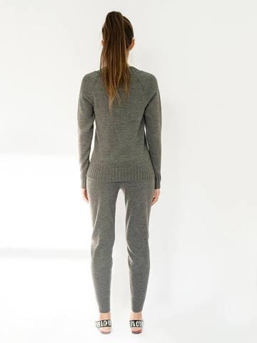 Женские брюки темно-серого цвета - фото 2