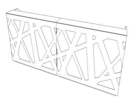 Стойка рецепции прямая с LED подсветкой