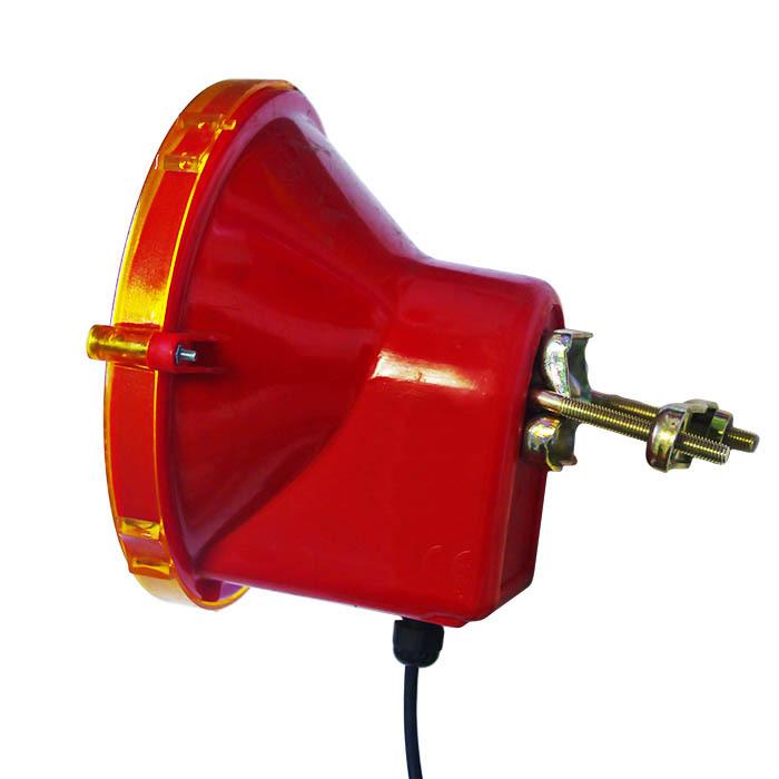 Предупреждающая лампа галогенная RS 2000 - вид сбоку
