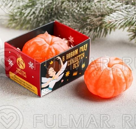Мандарин мыло в новогодней коробочке 1 штука
