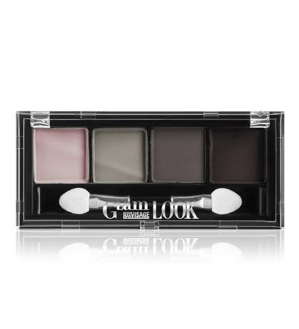 LuxVisage Glam Look Матовые тени для век 4-х цветные тон 5 (дымчатая)