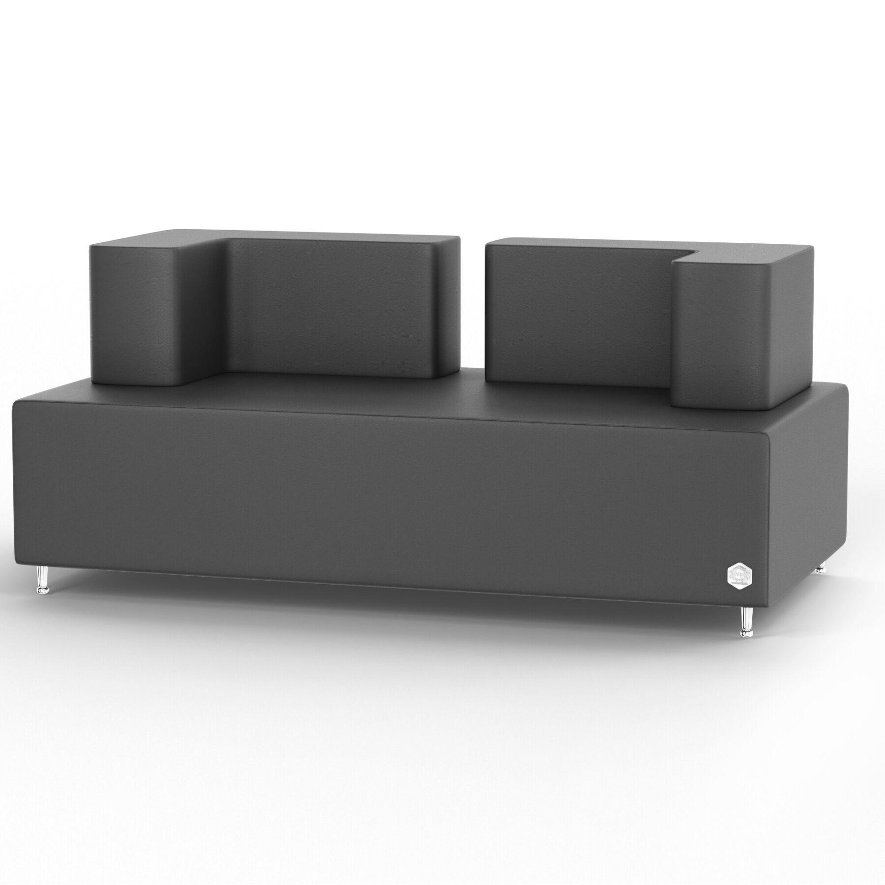Двухместный диван KULIK SYSTEM BASE Кожа Целый