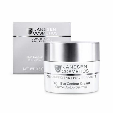 Питательный крем для кожи вокруг глаз  Rich Eye Contour Cream, Demanding skin, Janssen Cosmetics, 15 мл