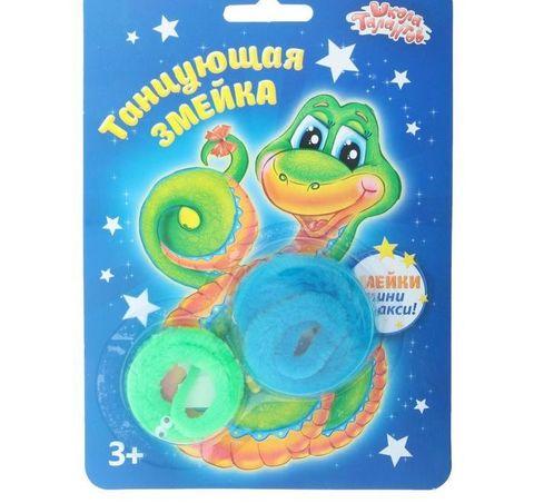 063-6568 Танцующая змейка, большая и малая, (набор 2 шт), цвета зеленый и голубой