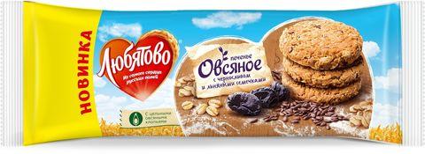 """Печенье Овсяное """"Любятово"""" Чернослив и льняными семечками 200гр"""