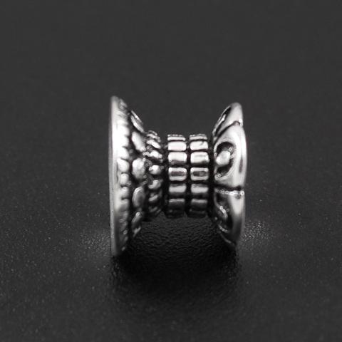 Бусина Кения 7,5х9 мм серебро 925