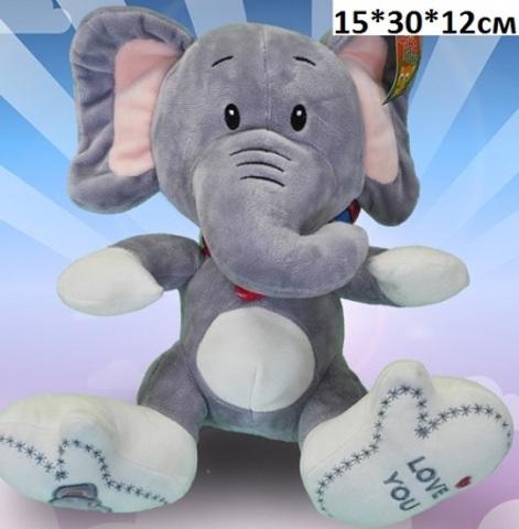 Н066 Слон с шарфом 15х30х12см