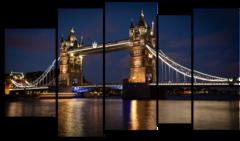"""Модульная картина """"Мост в Лондоне"""""""