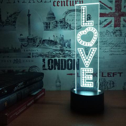 Ламповые чувства - Ночник LOVE