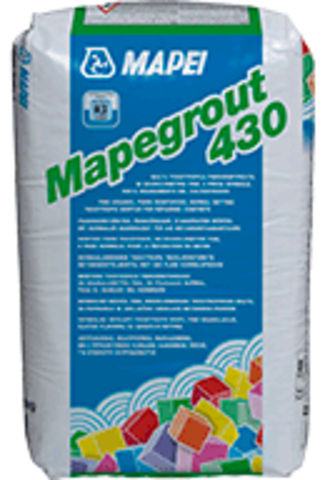 Mapei Mapegrout 430/Мапей Мапеграут430 безусадочный быстротвердеющий мелкозернистый раствор средней прочности для ремонта поверхности бетонных конструкций