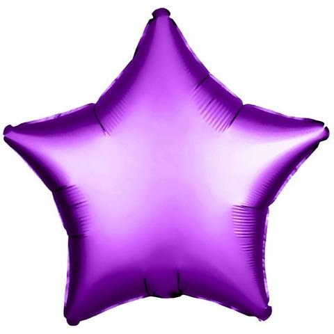 Фольгированный шар звезда, фиолетовый