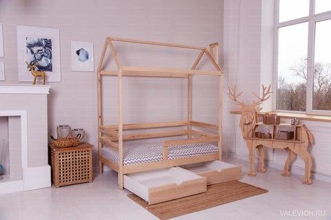 Кроватка-домик Incanto «Dream Home Karelian pine » цвет беленый дуб
