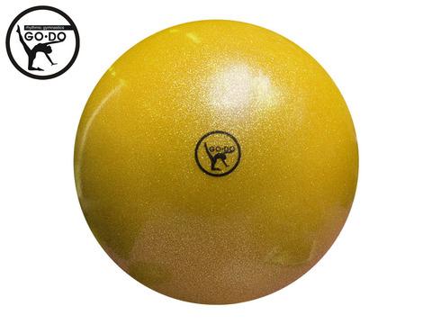 Мяч GO DO для художественной гимнастики. Диаметр 15 см. Цвет жёлтый имитация
