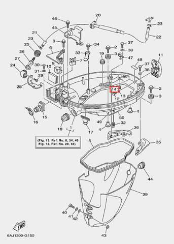 Заглушка для лодочного мотора F20 Sea-PRO (15-14)