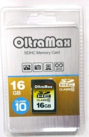 SDHC карта памяти OltraMax 16GB class 10