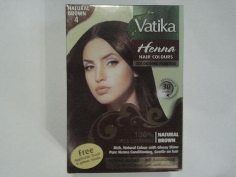 Краска для волос Коричневая, 60 г Vatika