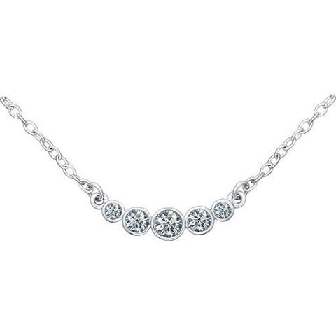94070045- Колье из серебра с фианитами «Зимняя вишня»