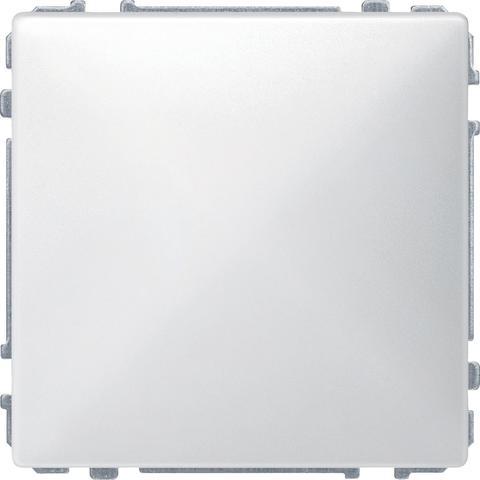 Выключатель одноклавишный. Цвет Полярно-белый. Merten. MTN3111-0000+MTN412119