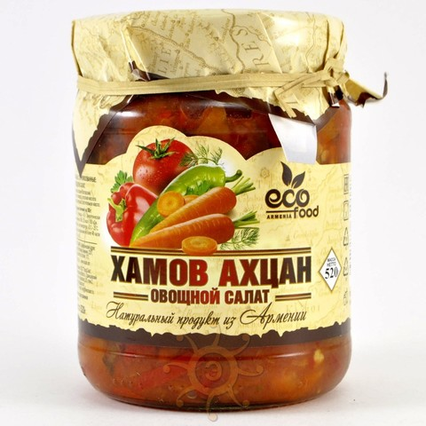 "Овощной салат ""Хамов ахцан"" Ecofood, 520г"