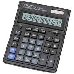 Калькулятор настольный ПОЛНОРАЗМЕРНЫЙ Citizen SDC-554S 14-разрядный черный