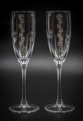 Подарочный набор бокалов для шампанского «Бриллиантовый», фото 4