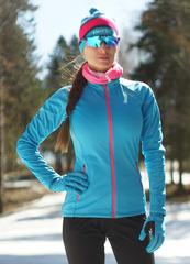 Женская элитная утеплённая лыжная куртка Nordski Elite Blue 2019
