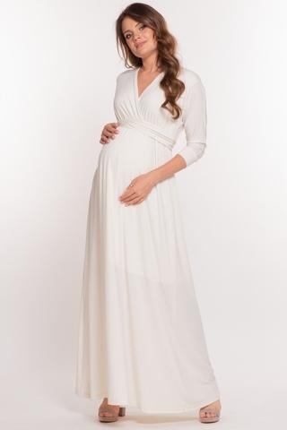 Платье для беременных 10623 кремовый