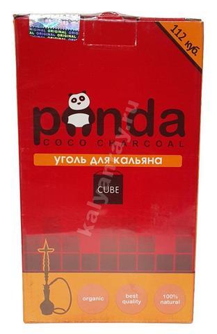 Кокосовый уголь Panda красная 112 кубиков