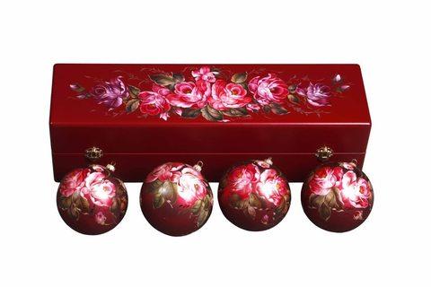 Набор из 4 елочных шаров в шкатулке SET04D-667785817