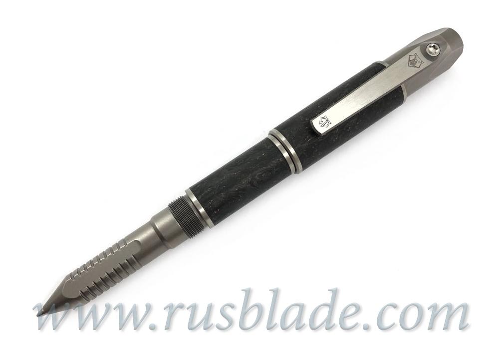 Shirogorov 2019 Pen Screwdriver Custom Division Copper Accent Marbled CF