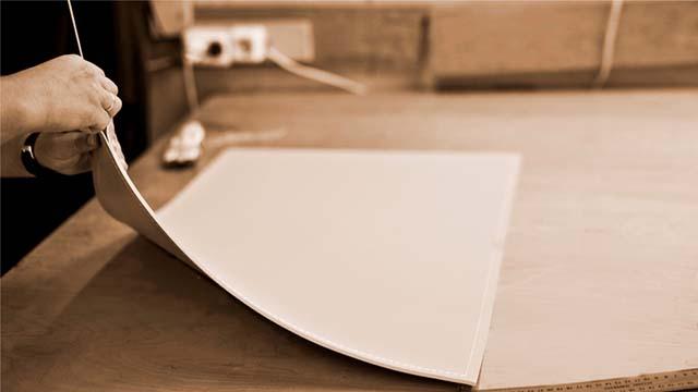 Бювар -накладка на стол- прямоугольная, кожа натуральная