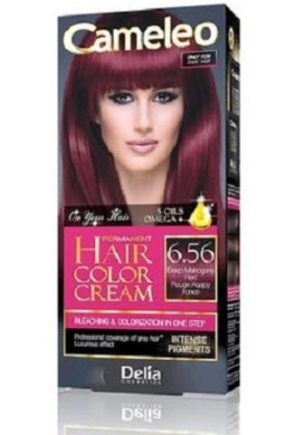Delia Cosmetics Cameleo Крем-краска для волос тон 6.56 глубокий красный махагон