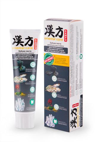 Modum Kampo Oriental Care Паста зубная Древесный уголь и жемчуг для природного отбеливания зубов и детоксикации дёсен 100г