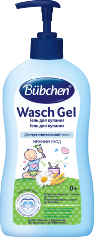 Гель для купания младенцев 400мл Bübchen