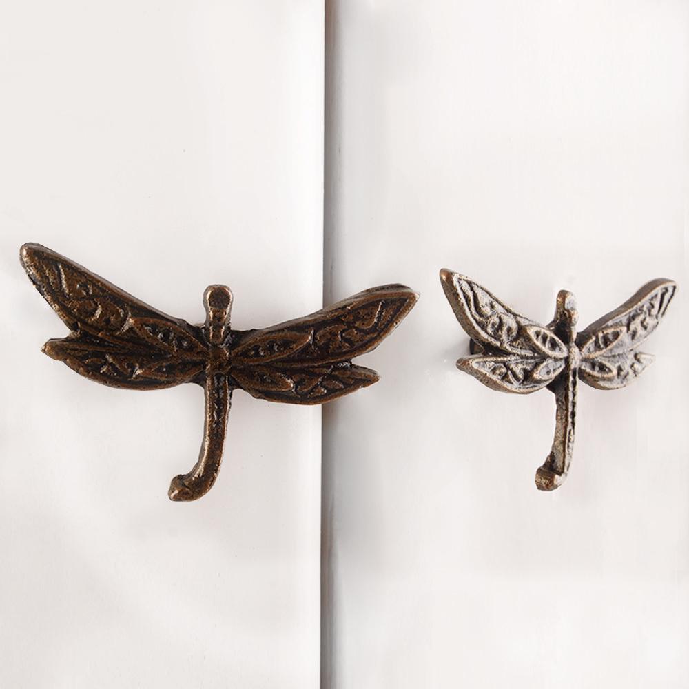 Ручка мебельная металлическая - стрекоза, арт. 000827