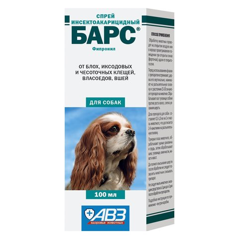 Барс спрей инсектоакарицидный для собак 100мл