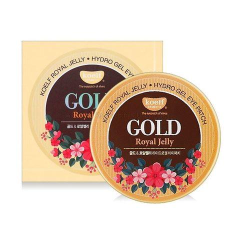 Патчи с золотом и маточным молочком KOELF Royal Jelly Hydrogel Eye Patch, 60 шт 84 гр