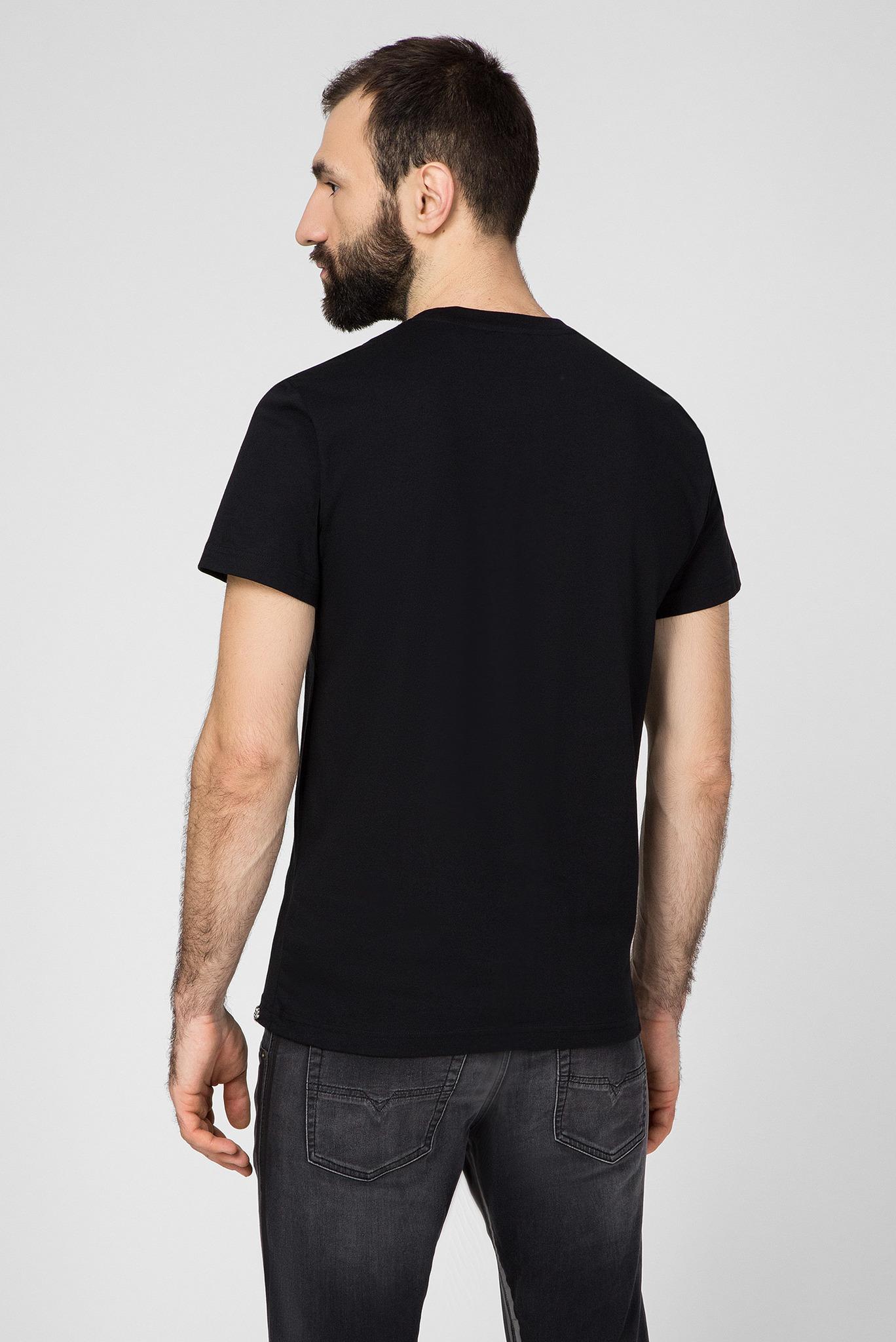 Мужская черная футболка T-DIEGO-BAGH Diesel