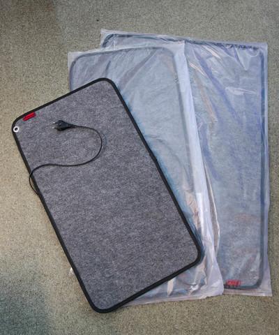 Коврик с подогревом 66х36 см. 40 Вт. ТК-1 серый