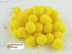 Бархатные помпоны Люкс светло-желтый